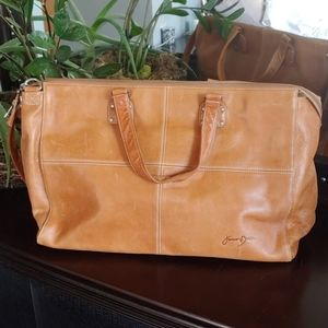 Junior Drake leather tote bag